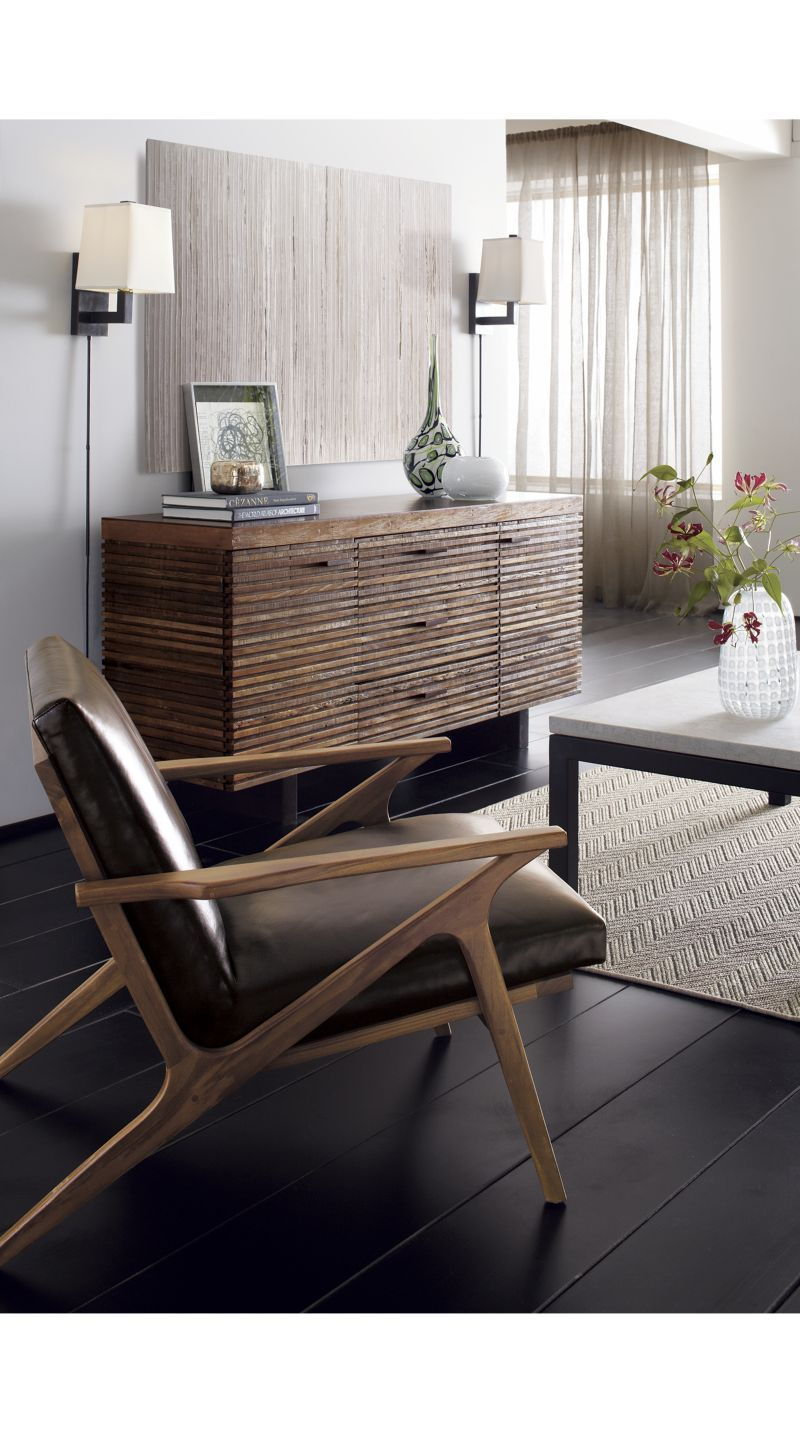 Exceptionnel Cavett Leather Chair | Crate And Barrel, Accent Chair  Living Room Or  Bedroom
