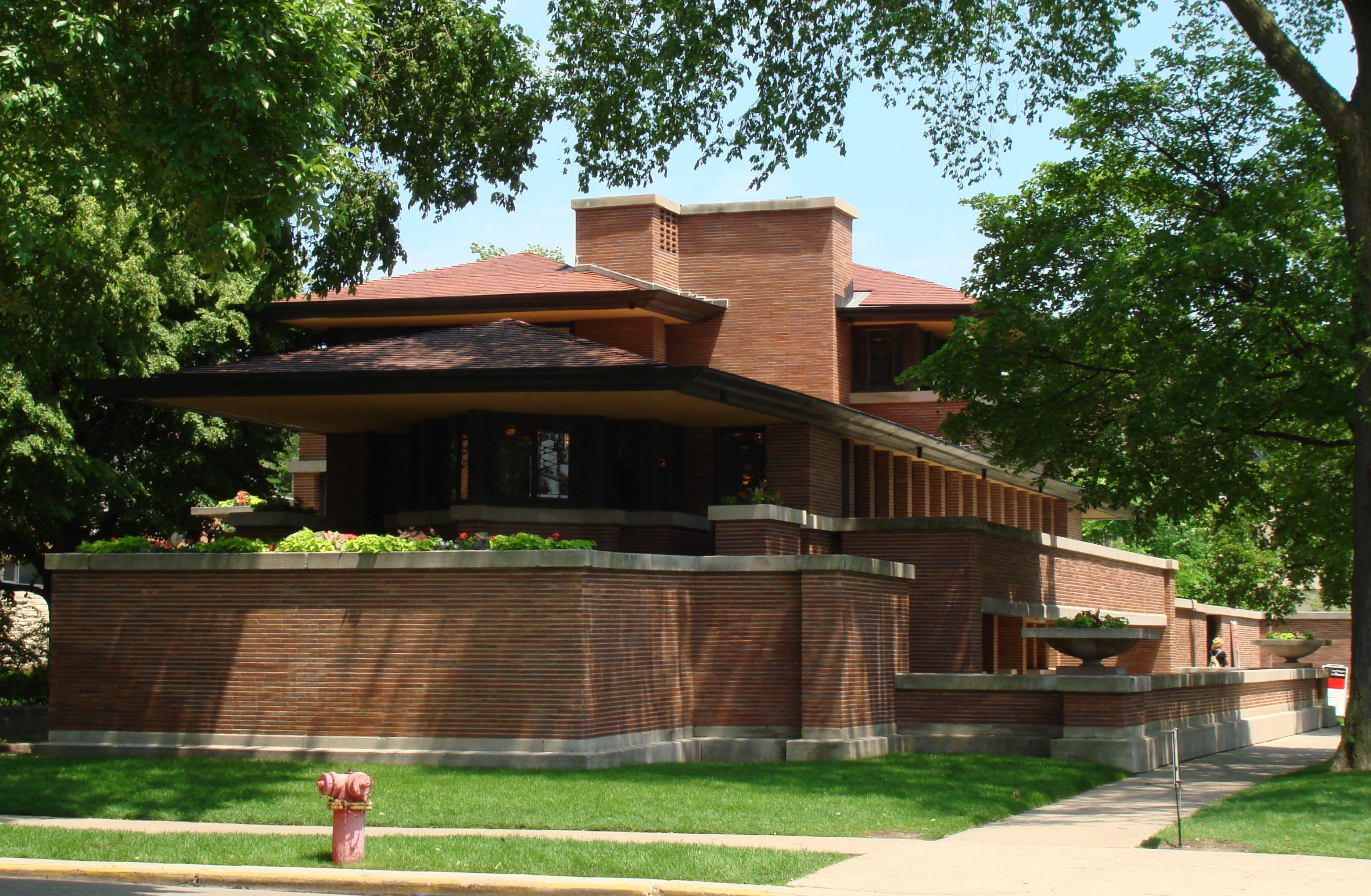 Unique robie house on home design with robie house frank for Frank lloyd wright stile prateria