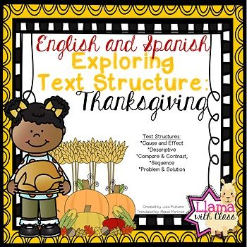 Exploring text structure with thanksgiving english spanish edition exploring text structure with thanksgiving english spanish edition stopboris Gallery
