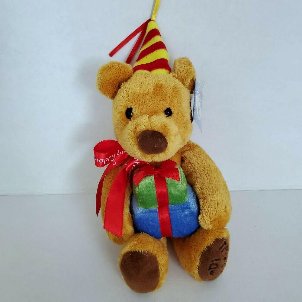 Gund Newtons Law Happy Birthday Plush Teddy Bear Holding