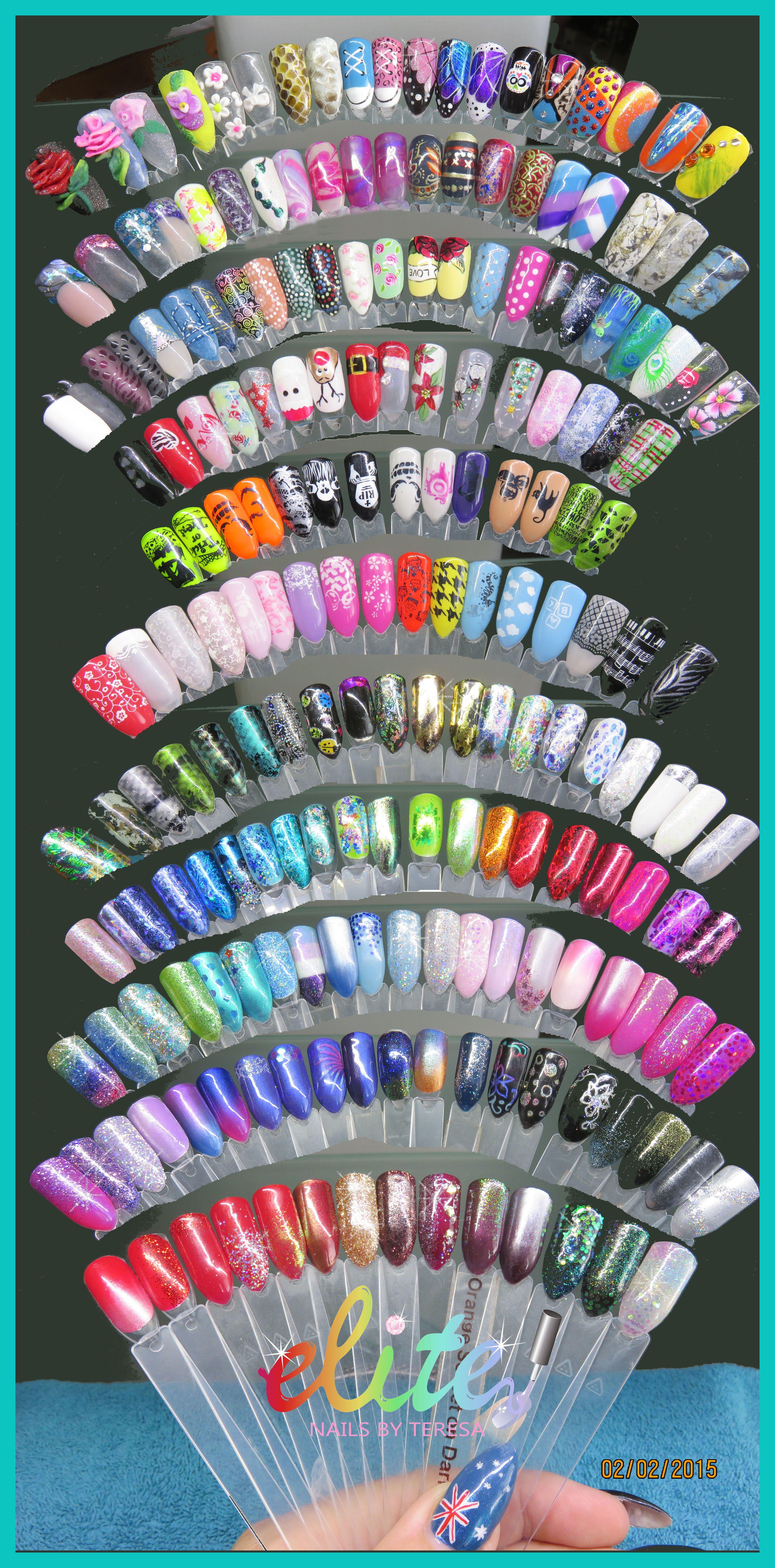 Sample stick nails nail art Elite Nails CND Shellac over ...