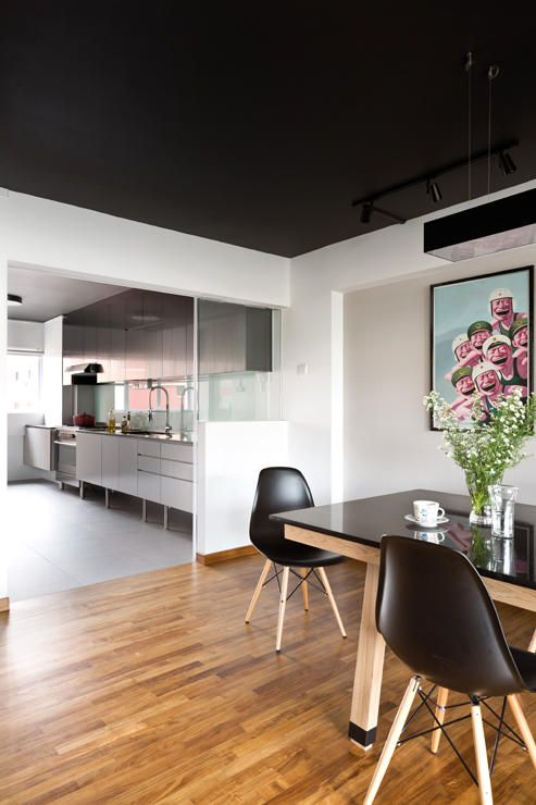 Swap Out That White Half Glass Wall With A Industrial