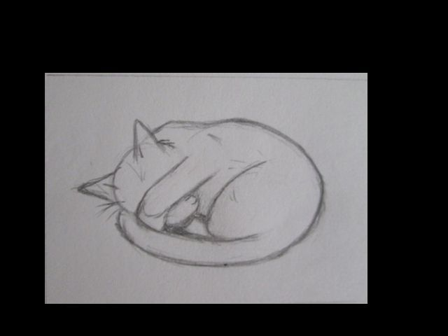 Drawing for Black Cat Lino Print Peat Weasel Takes a Nap by OniOniOniArt, $10.00 Etsy by OniOniOniArt