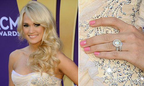 carrie underwood s engagement ring engagement