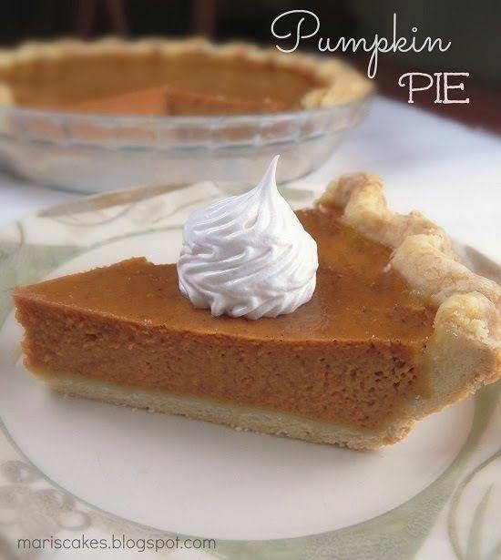 Pumpkin Pie (Pie de Calabaza) | Mari's Cakes