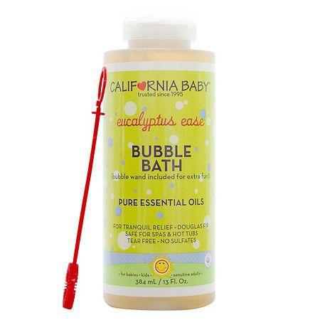 California Baby Bubble Bath Aromatherapy Eucalyptus Ease 13 Oz Baby Bubble Bath