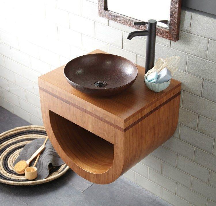 Meuble Salle De Bain Bambou Et Accessoires En 50 Idees Salle De Bain En Bambou Meuble Salle De Bain Salle De Bain