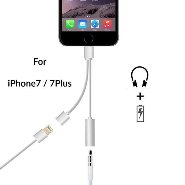 2 In 1 Iphone 7 Earphone Cable Jack Usb For Charging In One Cable Soolamo Earphone Earbuds Usb