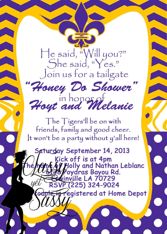 LSU Honey Do Chevron Poke a Dot Print by ClassyYetSassyInvite ...
