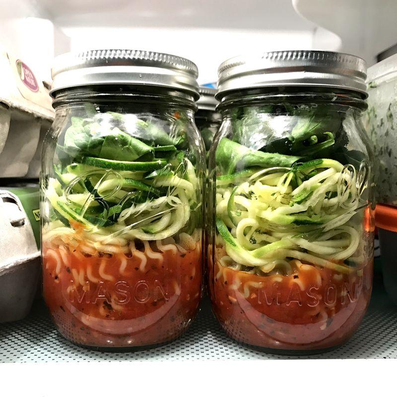 Meal Prep Tomato Vegetable Pasta Soup Jars Mason Jar Meal Prep Mason Jar Meals Mason Jar Lunch