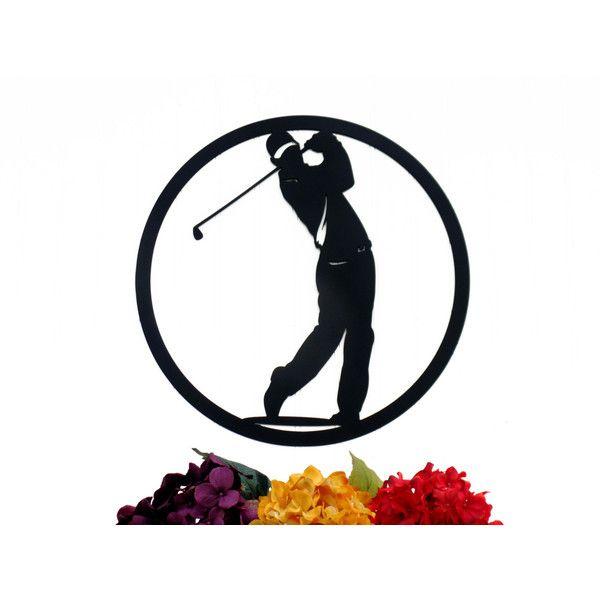 Golfer Metal Wall Art Golfer Gift Golf Gift Metal Wall Hanging Gift