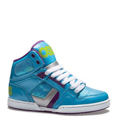 7d2d9332aa Take a look at this Blue & Lime NYC 83 Slim Sneaker - Kids by Osiris Shoes  on #zulily today!