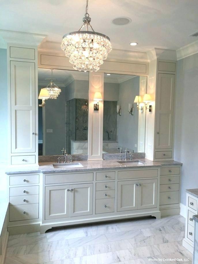 Photo of Beautiful Bathroom Vanity With Linen Cabinet Design