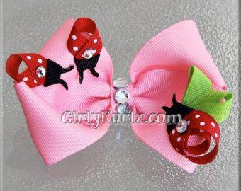 Pink Bunny Hair Bow, Easter Hair Bow, Bunny Hair C