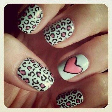 Very cute nails .