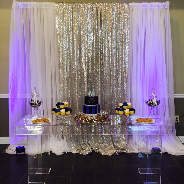 Royal Blue Black And Silver 60th Birthday Party