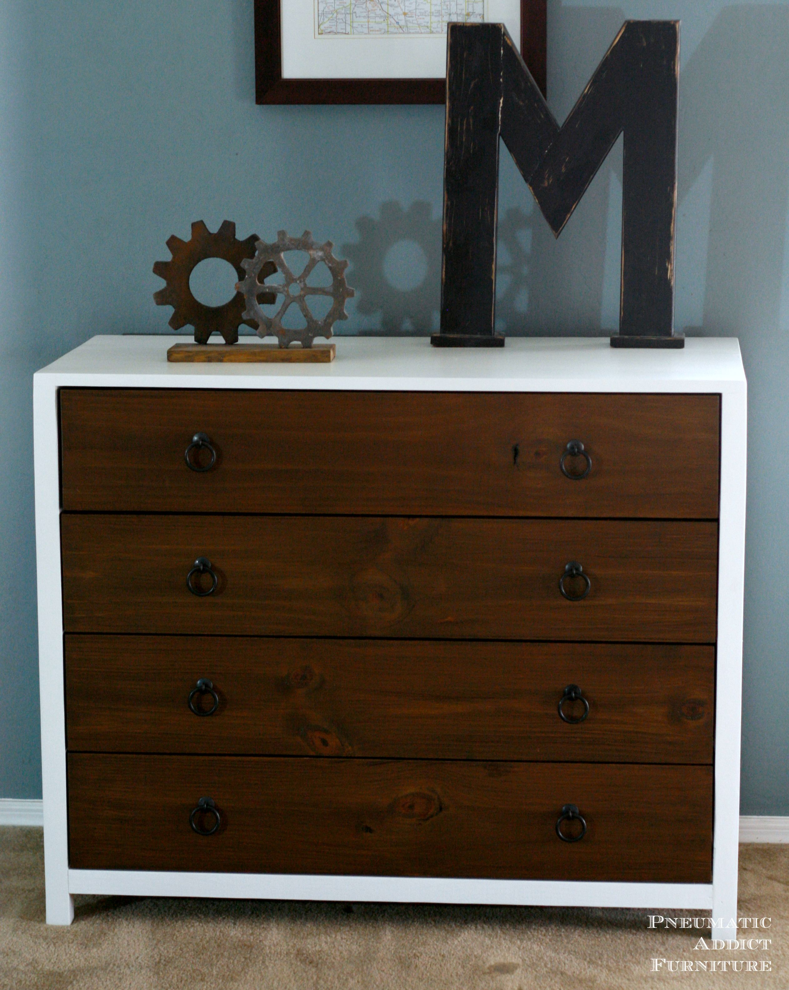 Diy Modern Dresser With Wood Drawers. Inspired By Pottery Barn Kids Jordan  Dresser. Free