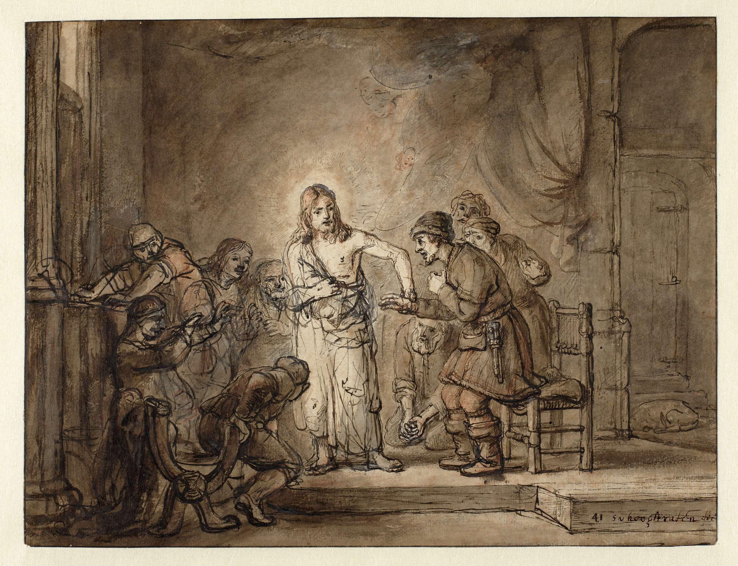 Samuel van Hoogstraten   De ongelovige Thomas, Samuel van Hoogstraten, c. 1648 - c. 1649  