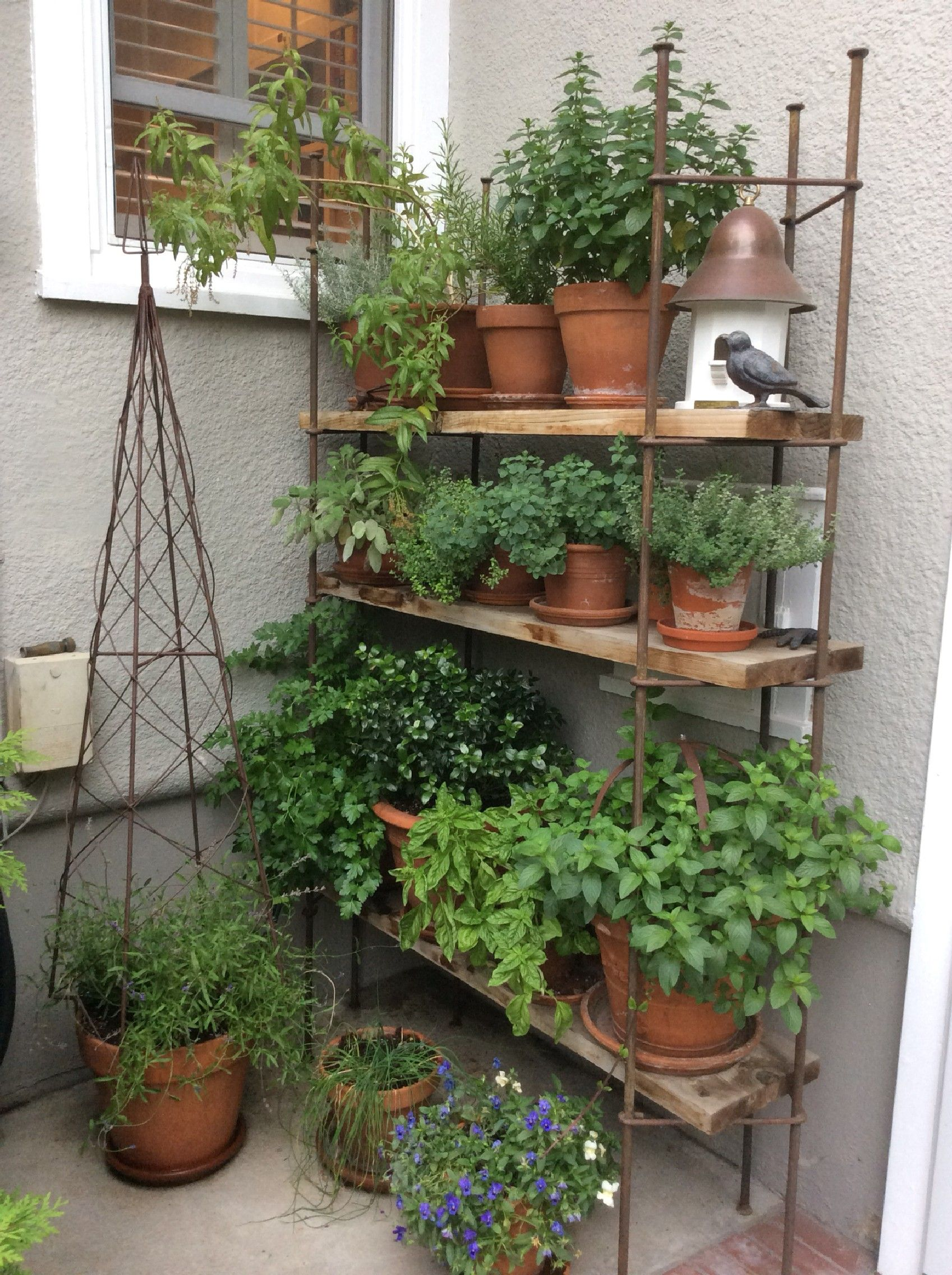 DIY: Awesome Patio or Balcony Herb Garden Ideas (50 Pictures ...