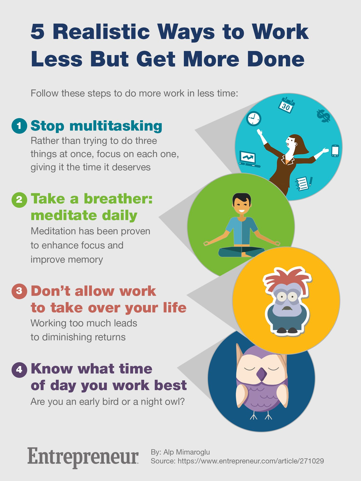 Realistic Ways to Work Less But Get More Done