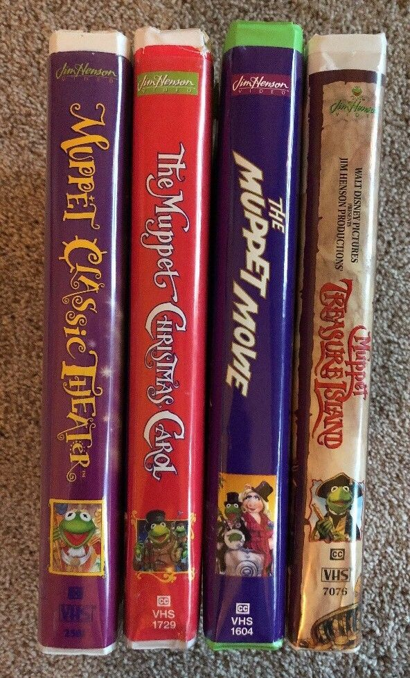 Muppet Christmas Carol Vhs.Jim Henson The Muppets Lot Of 4 Vhs Tapes Clamshell