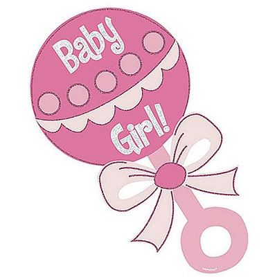 Baby Girl Rattle Clipart | Baby Cookies | Baby shower ...