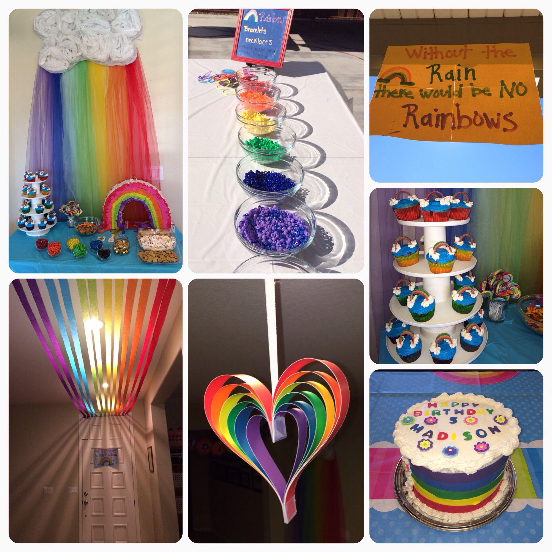 Rainbow birthday ideas Pinterest
