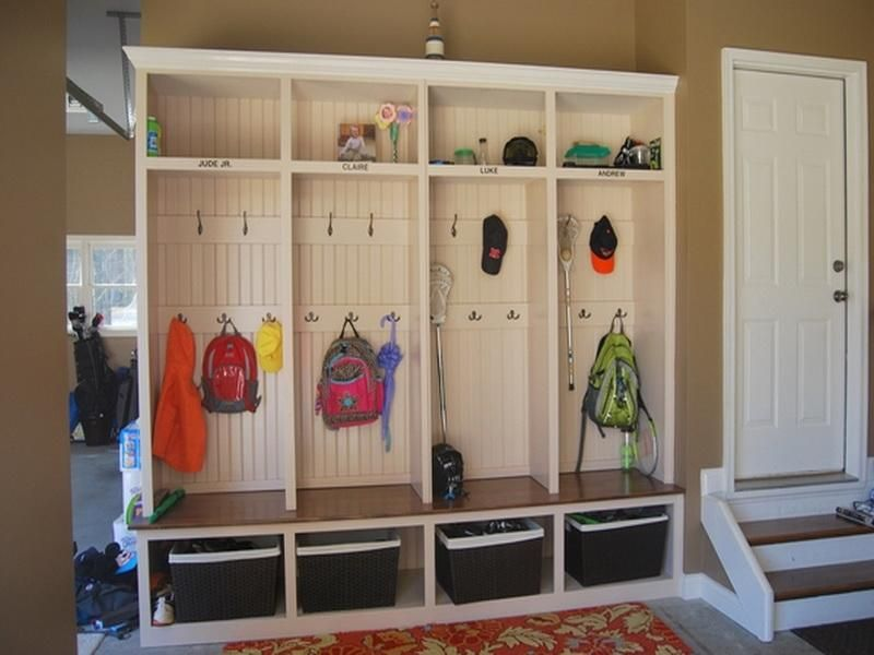 Simple Organized Mudroom Cubbies Home
