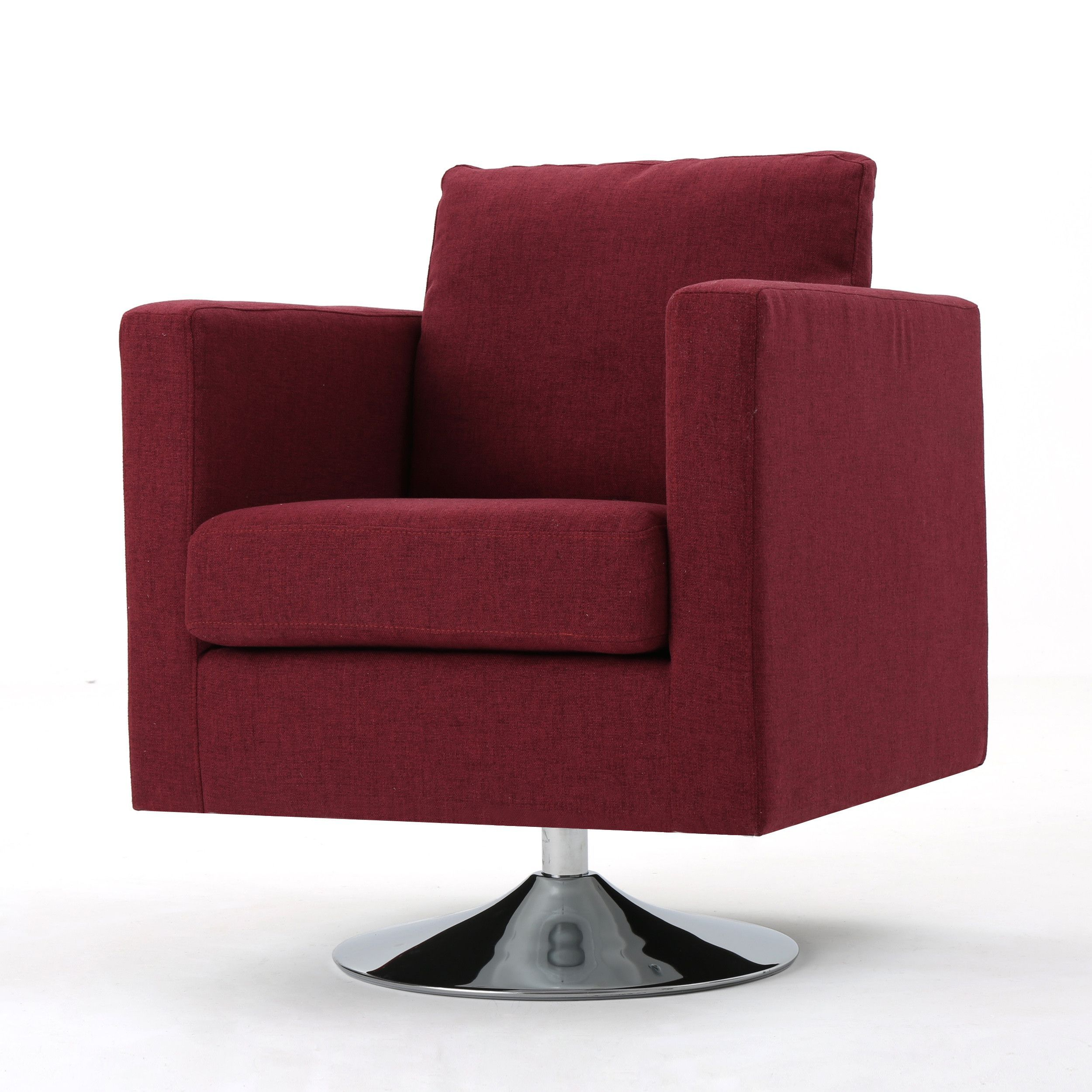 Add A Touch Of Modern To Your Home Today With This Swivel Chair Featuring Design Chrome Base Does It All