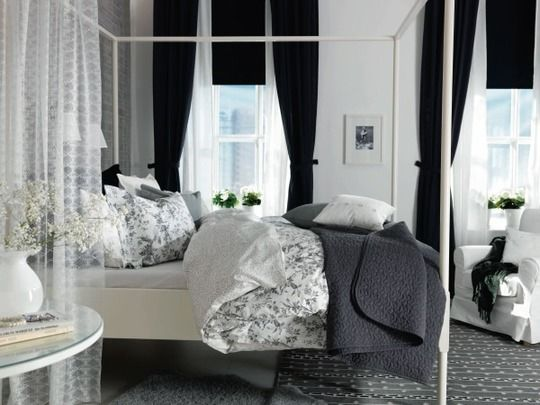 Bedroom // black, white, and gray