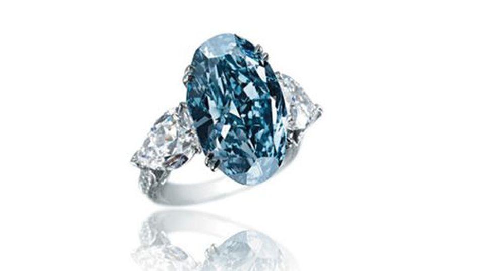 Anillos diamante azul