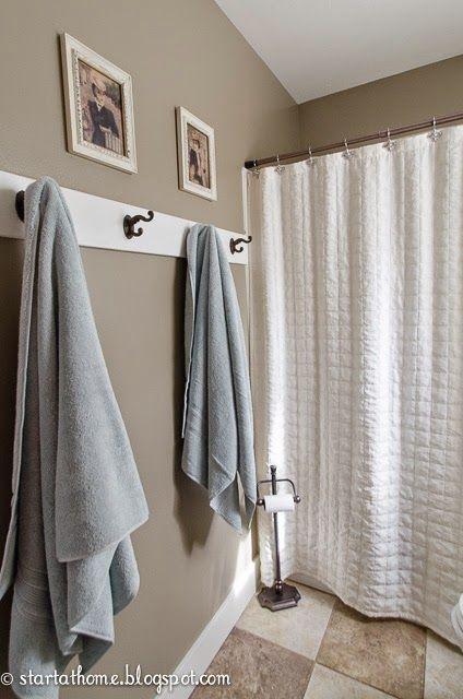 Home Tour Bathroom Towel Hooks Bathroom Towel Decor Bathroom