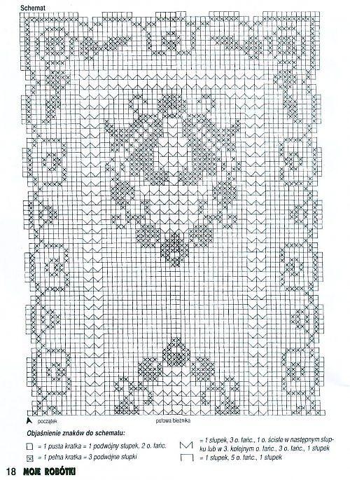 filet table runner bluebells (2) - free cross stitch patterns ...
