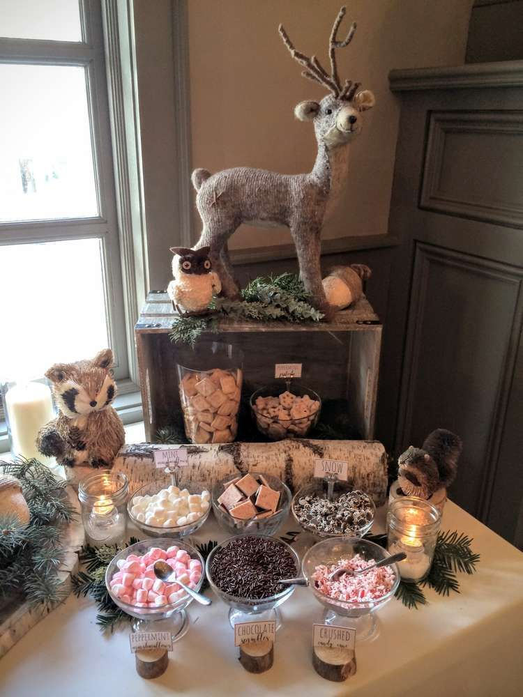 Woodland Animals Baby Shower Party Ideas In 2019 Baby