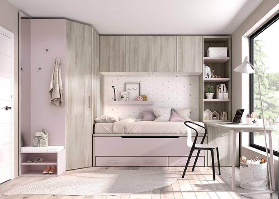 Pin On Dormitorios En Espacios Pequenos