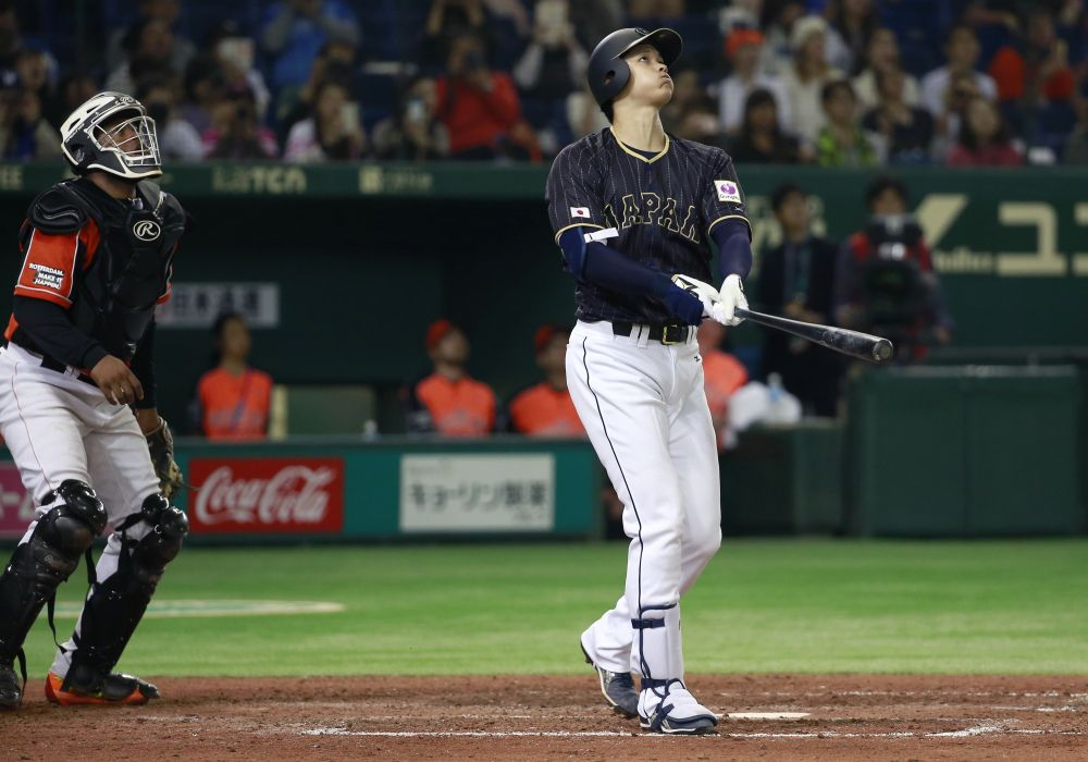 Japanese Superhero Shohei Otani Hit A Baseball Straight Through The Roof Of An Arena Best Baseball Player Baseball Japanese Baseball Player