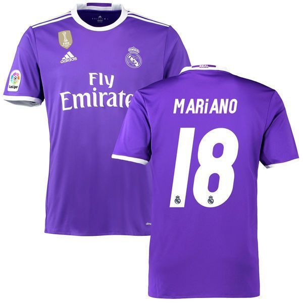 Mariano Real Madrid adidas 2016 17 Away World Cup Champions Patch Replica  Jersey. 9fb9637e19d87