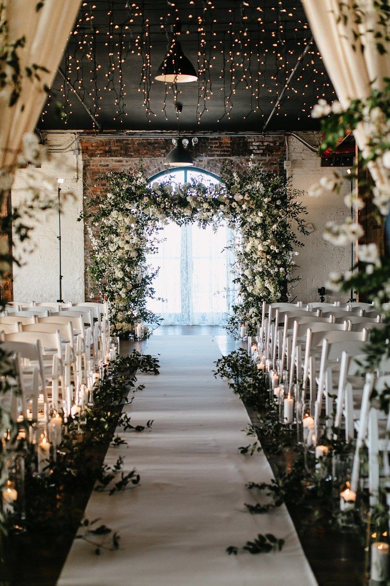 A Romantic-Meets-Industrial Wedding in Brooklyn #weddings
