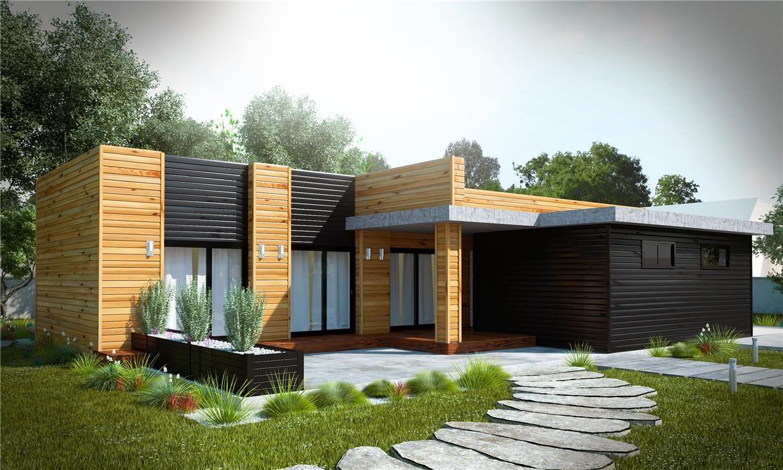 Leon 160m2 entramado ligero design pinterest casas casas de madera y casas prefabricadas - Casas prefabricadas en leon ...