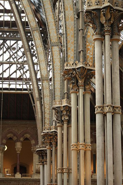 Cast iron columns in Oxford's museum of Natural History
