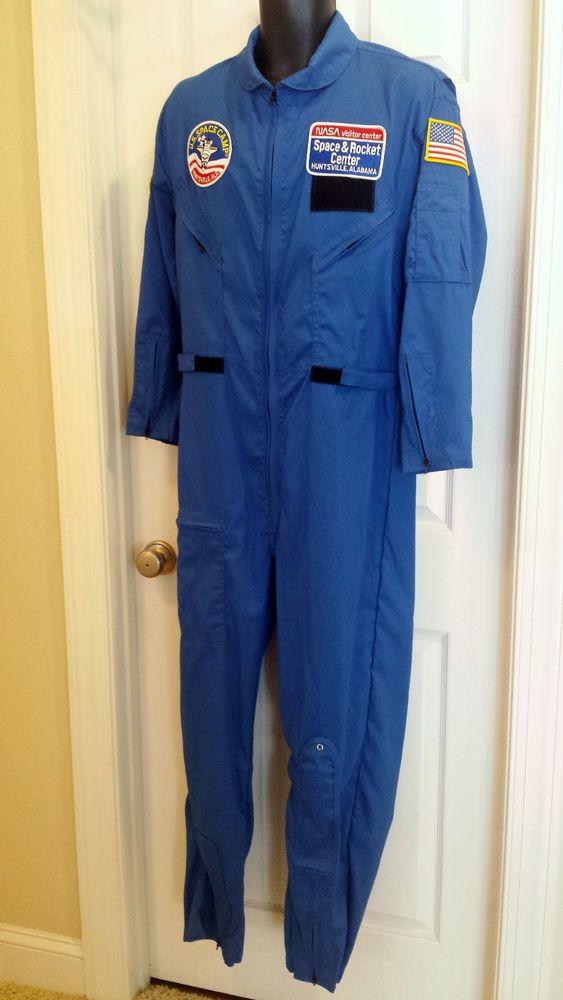 US NASA Space Camp Flight Suit Jumpsuit Coveralls Costume ...