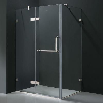 Vigo Monteray 46 In X 73 375 In Frameless Corner Hinged Shower
