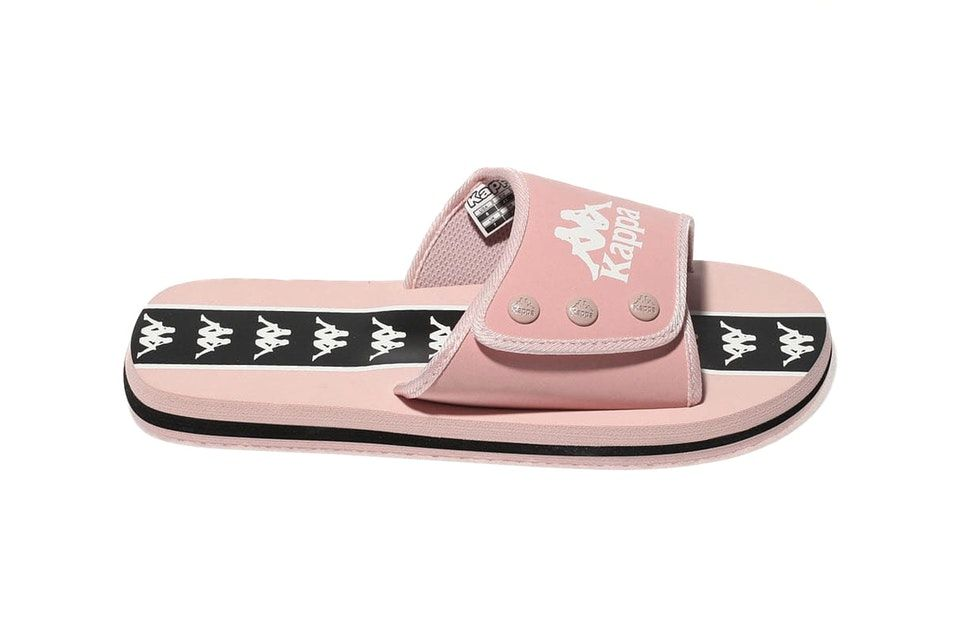 92fad9e22 These Millennial Pink Kappa Logo Slides Are '90s in the Best Way ...