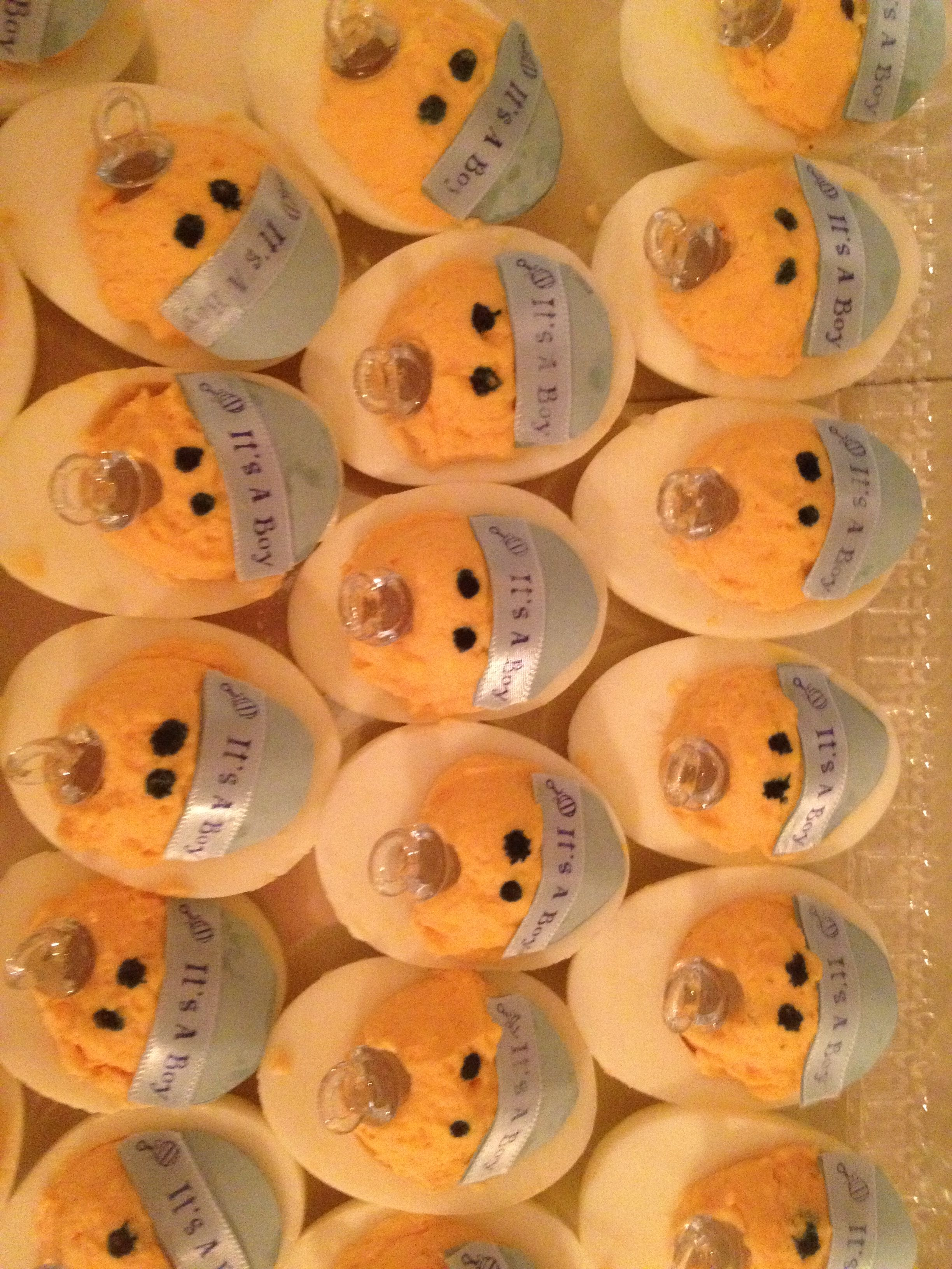 It's a boy deviled eggs | Baby shower ideas & decorations ...