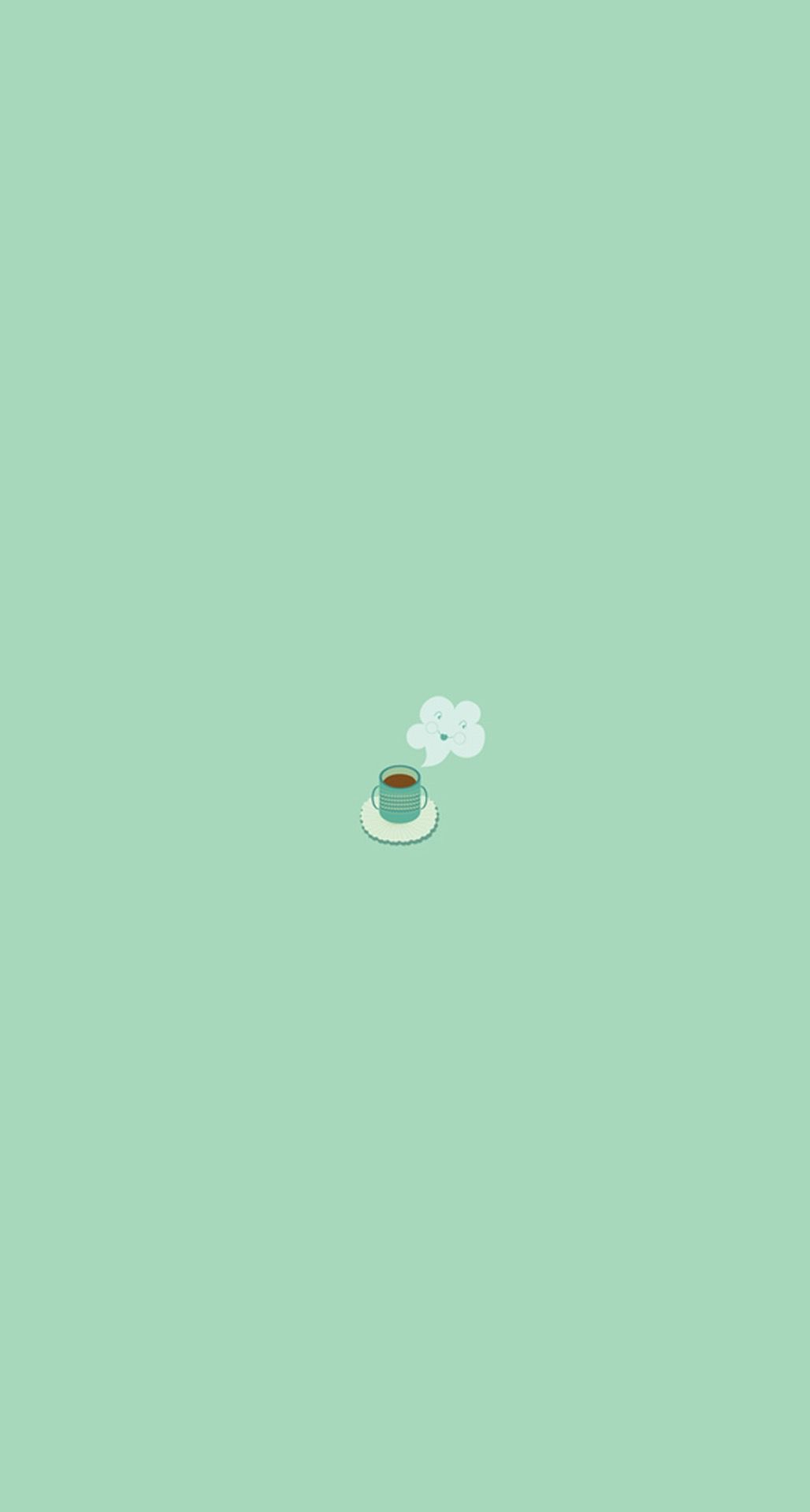 Simple Coffee Mug Flat Illustration Iphone 6 Plus Hd Wallpaper