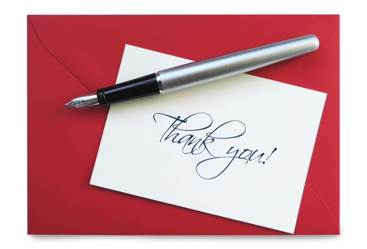 interview etiquette is the handwritten thank you note