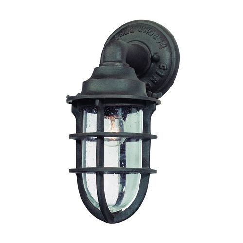 Seeded Gl Outdoor Wall Light Nautical Rust Troy Lighting At Destination