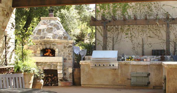 Mugnaini Wood Fired Ovens Mugnaini Outdoor Barbeque Outdoor Barbeque Area Outdoor Kitchen