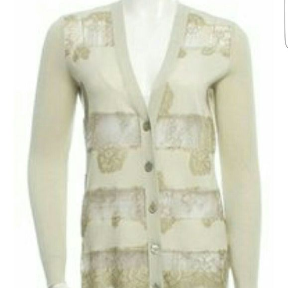 Valentino Lace Cardigan 100 % Authentic Valentino Sweaters Cardigans ...