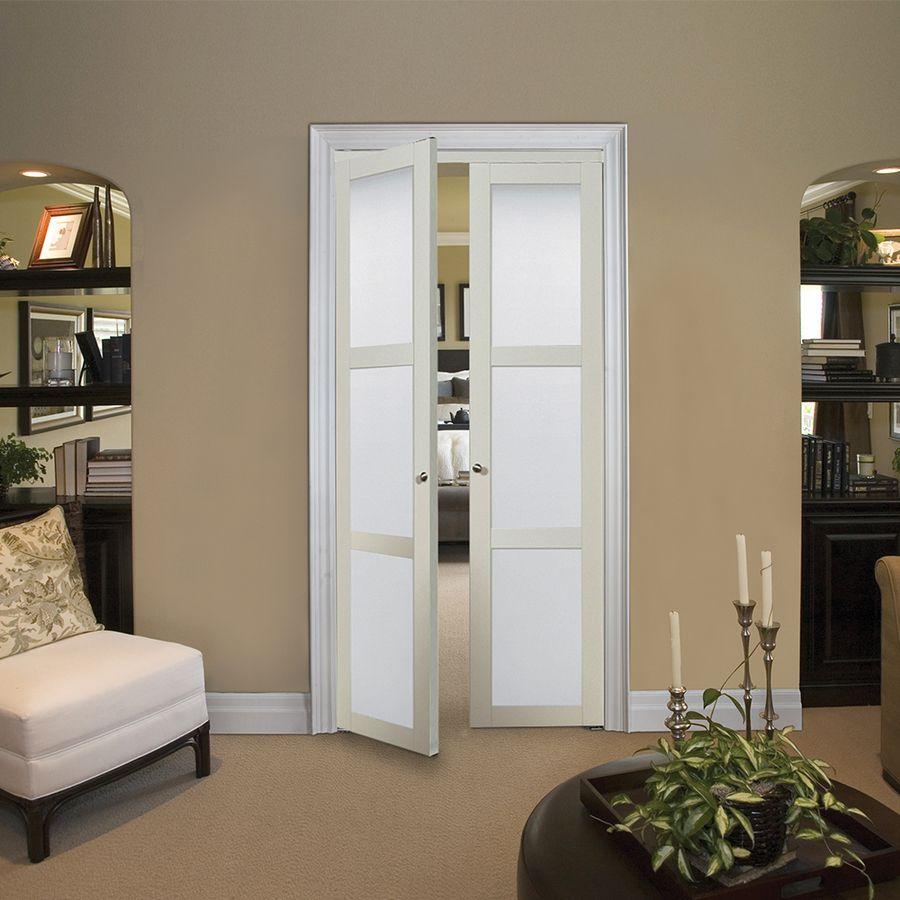 Shop ReliaBilt 3-Lite Frosted Pivot Interior Door (Common